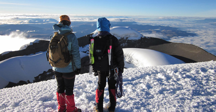 Climbing in the Cotopaxi